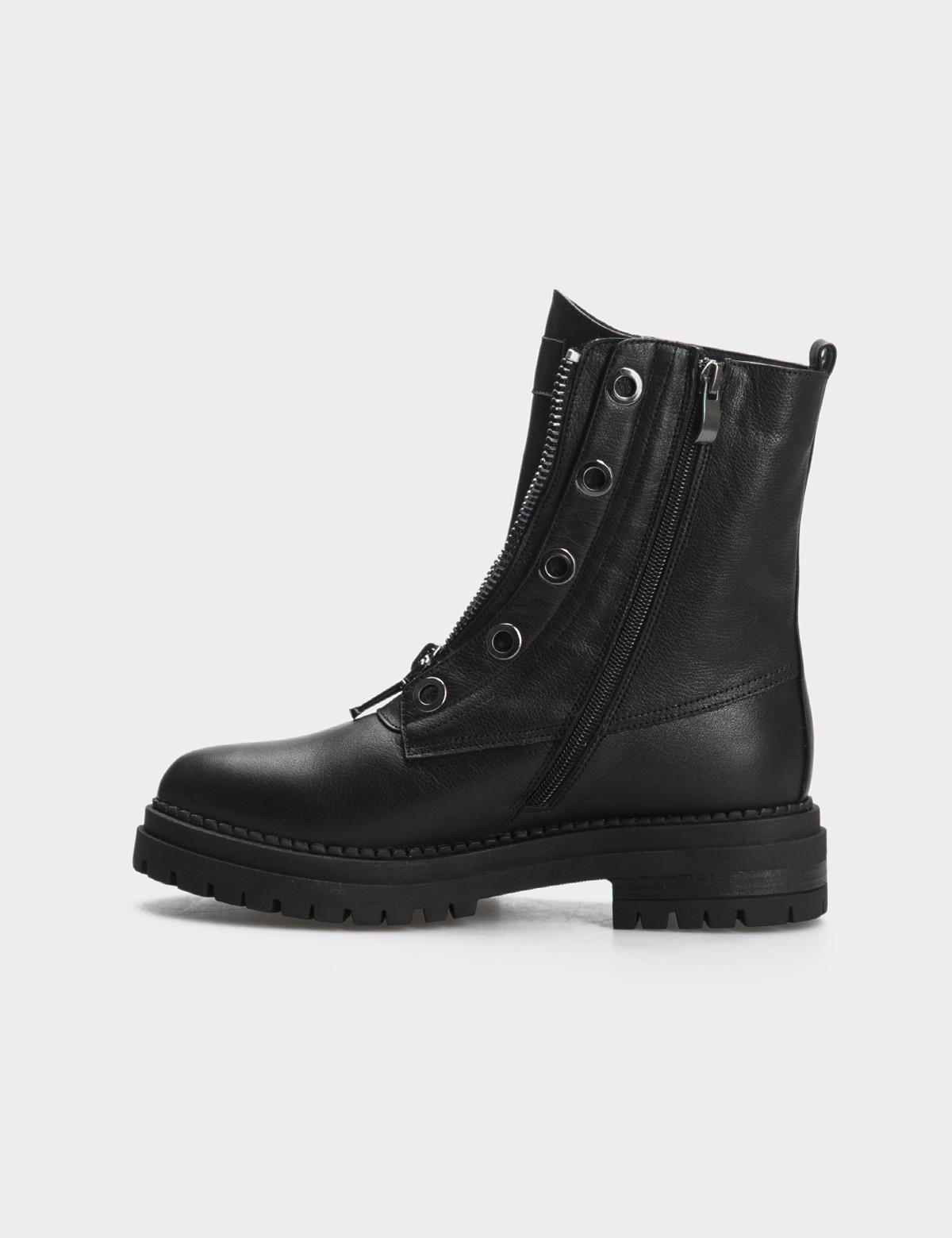 Ботинки черные, натуральная кожа. Шерсть2