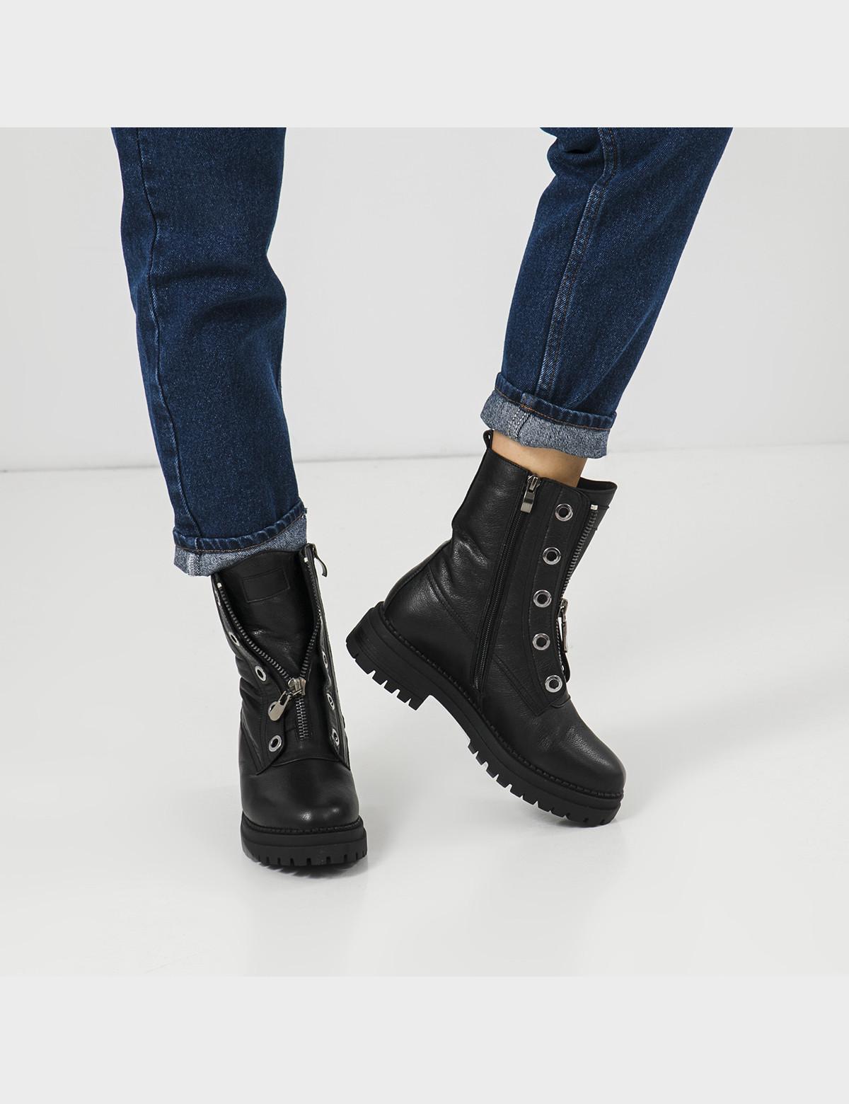 Ботинки черные, натуральная кожа. Шерсть6