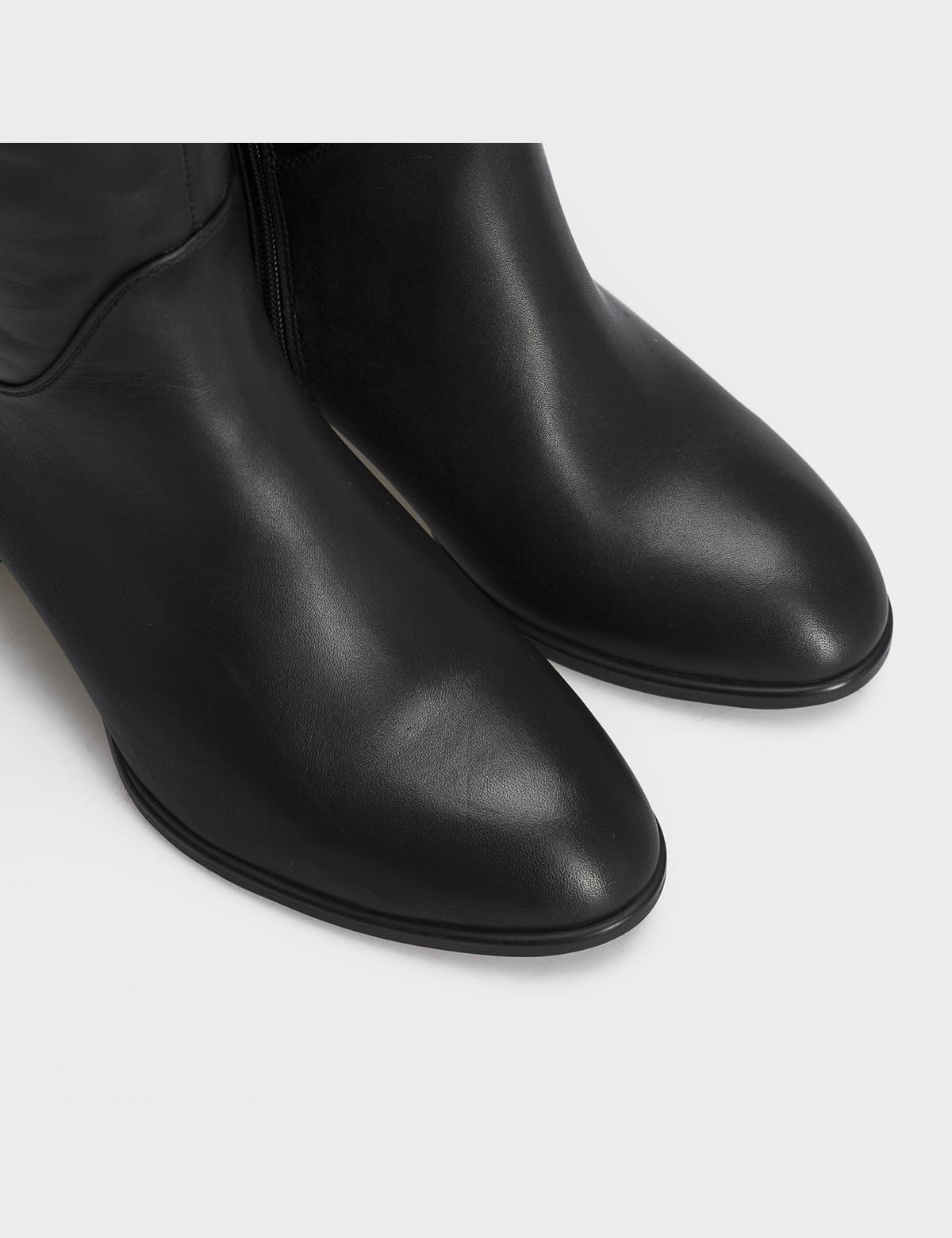 Сапоги черные, натуральная замша/кожа. Байка4