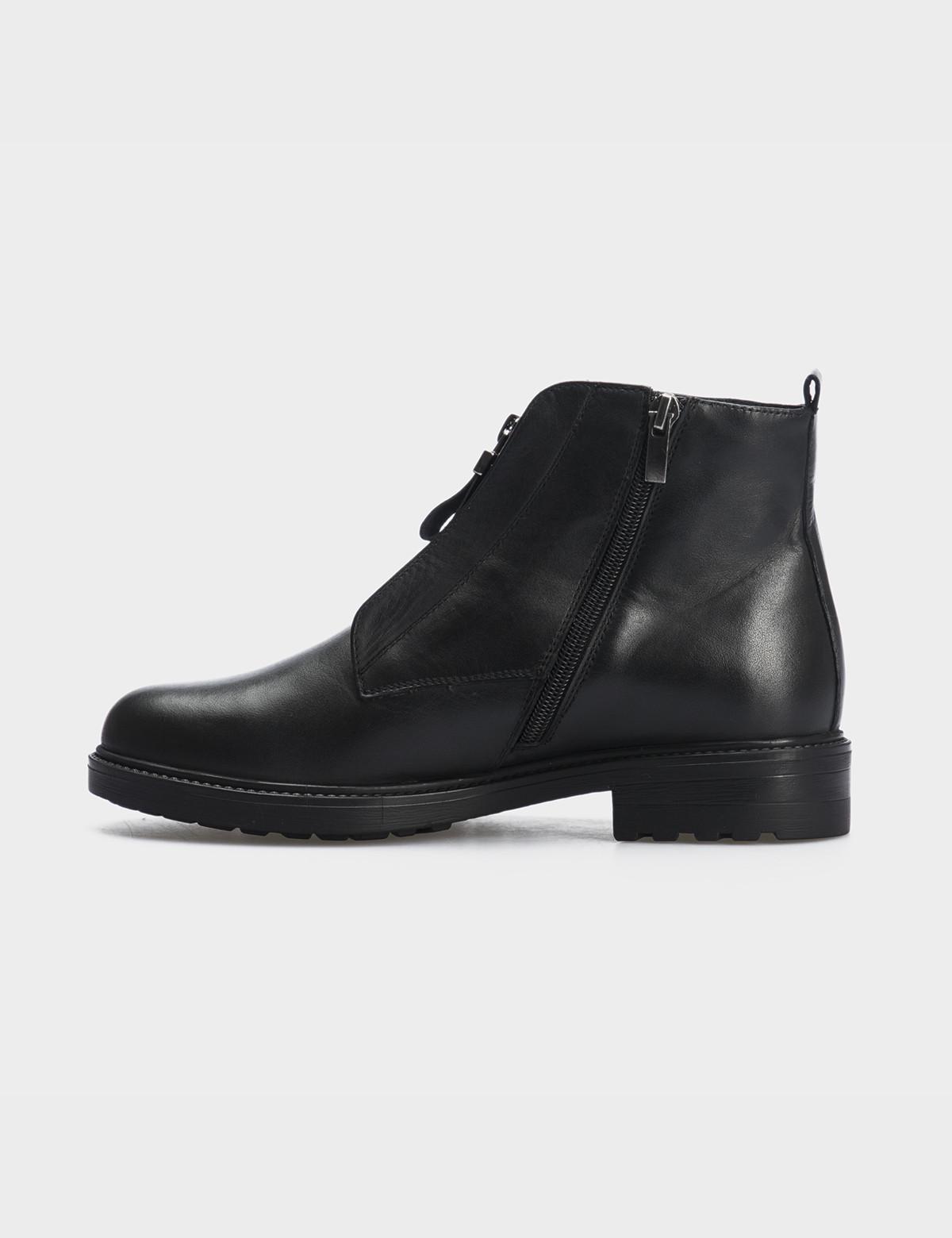Ботинки черные натуральная кожа. Байка2