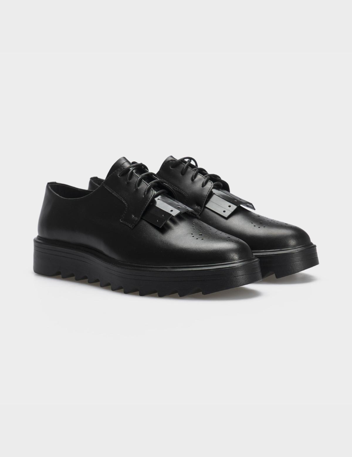 Туфлі чорні, натуральна шкіра1