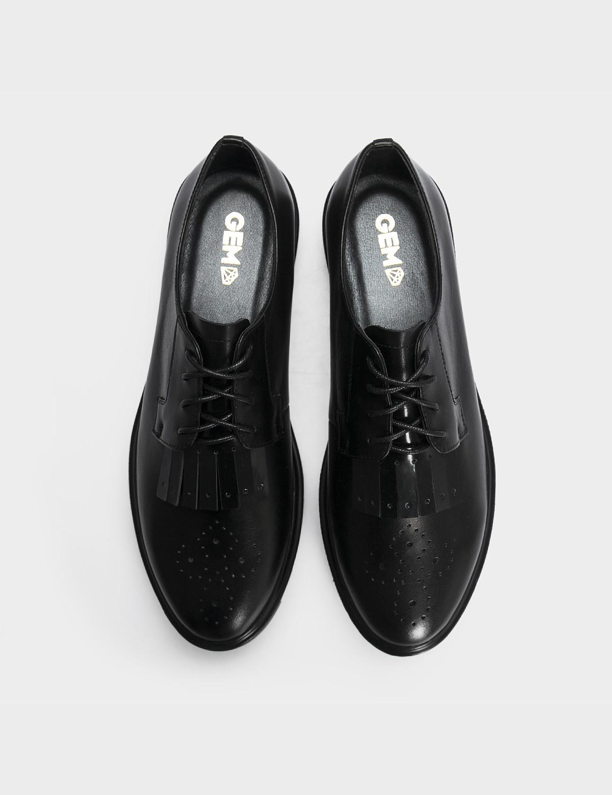 Туфлі чорні, натуральна шкіра3