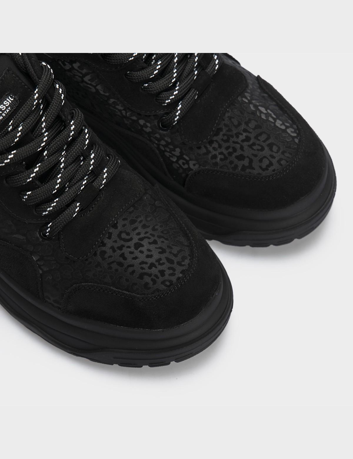 Кросівки чорні натуральна шкіра/замша. Текстиль4