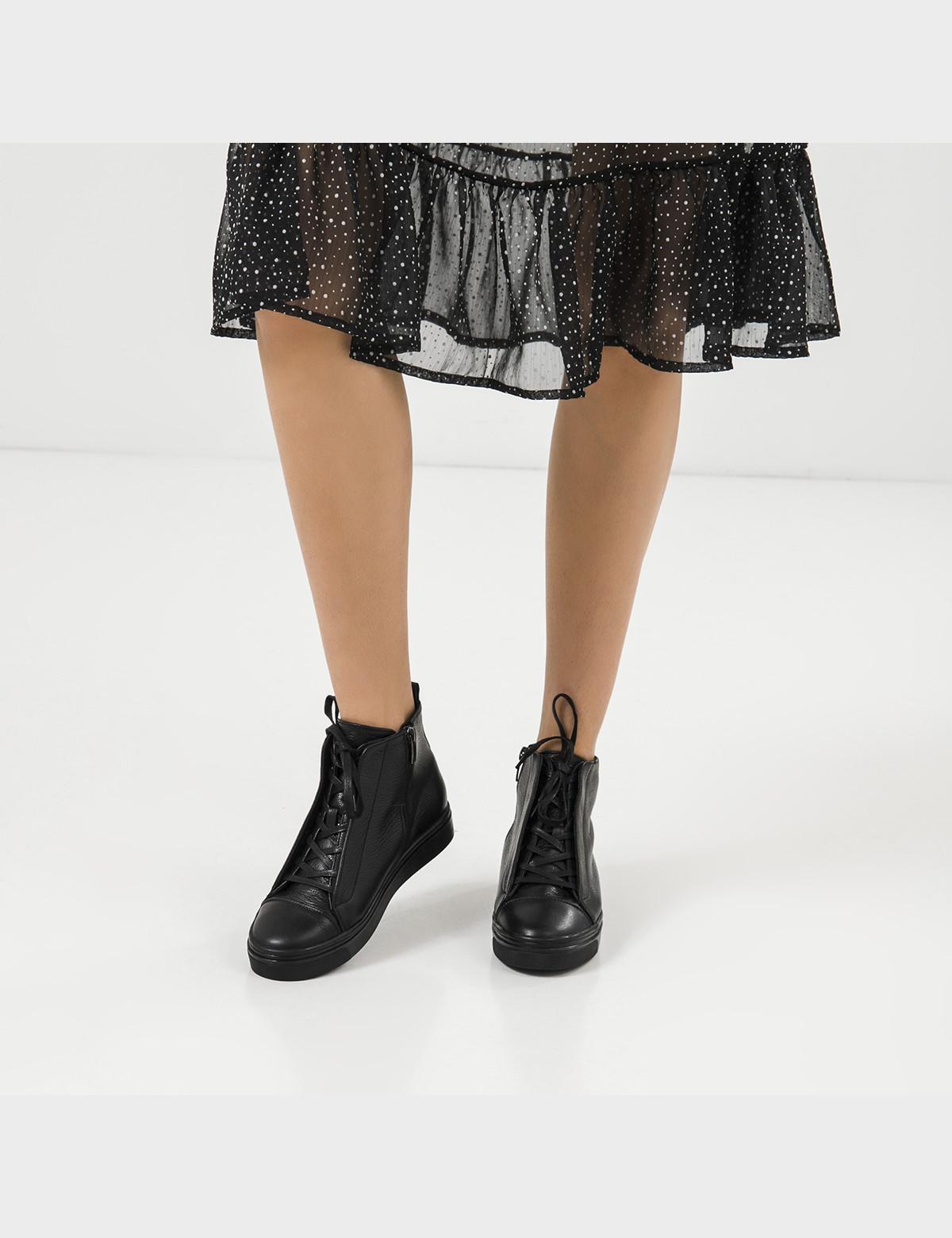 Ботинки черные, натуральная кожа. Шерсть5