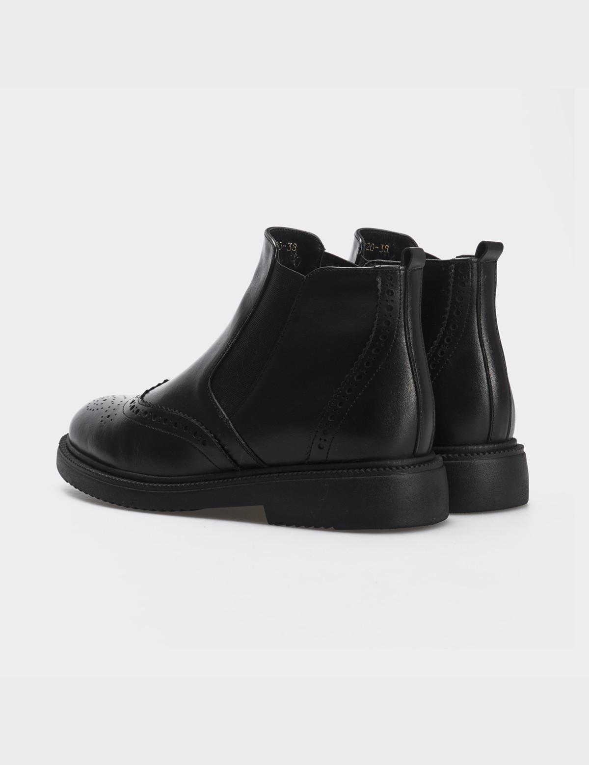 Ботинки черные, натуральная кожа. Байка 2