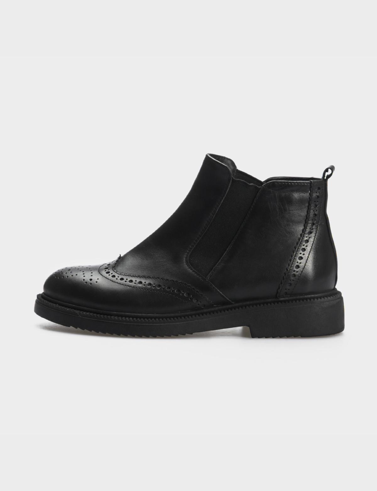 Ботинки черные, натуральная кожа. Байка 3
