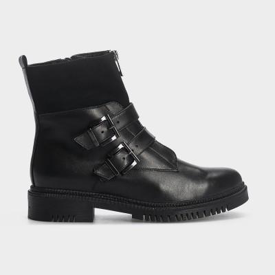Ботинки, натуральная кожа/текстиль. Байка