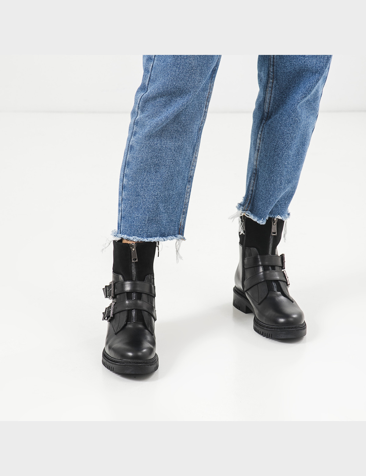 Ботинки, натуральная кожа/замша. Байка5