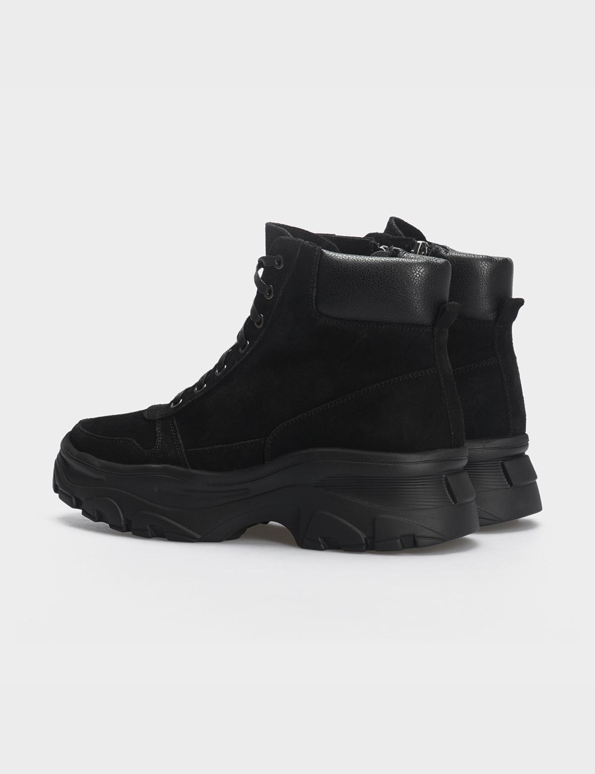 Ботинки черные, натуральная кожа/замша. Шерсть2
