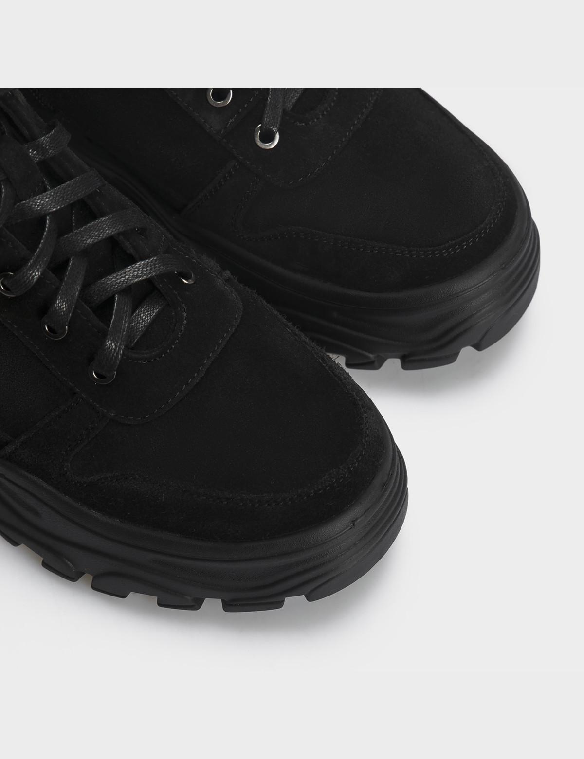 Ботинки черные, натуральная кожа/замша. Шерсть5
