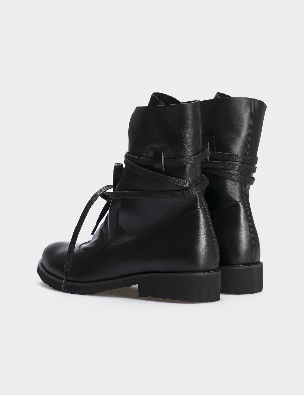 Ботинки натуральная черная кожа. 2