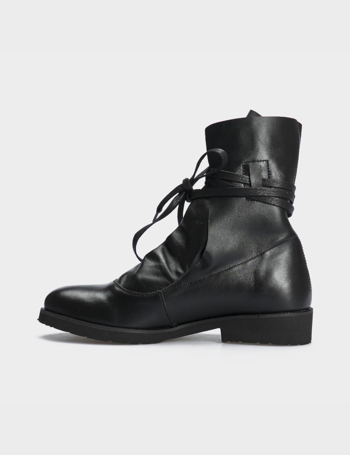 Ботинки натуральная черная кожа. 3