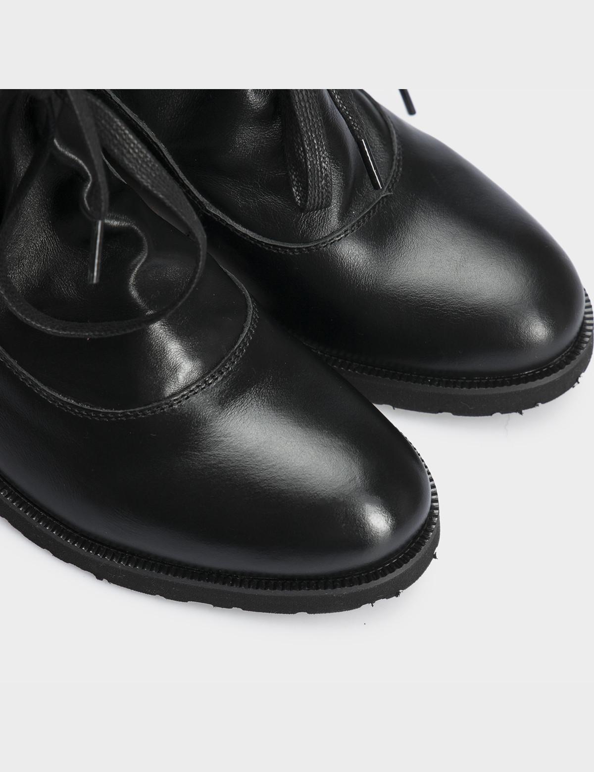 Ботинки натуральная черная кожа. 4
