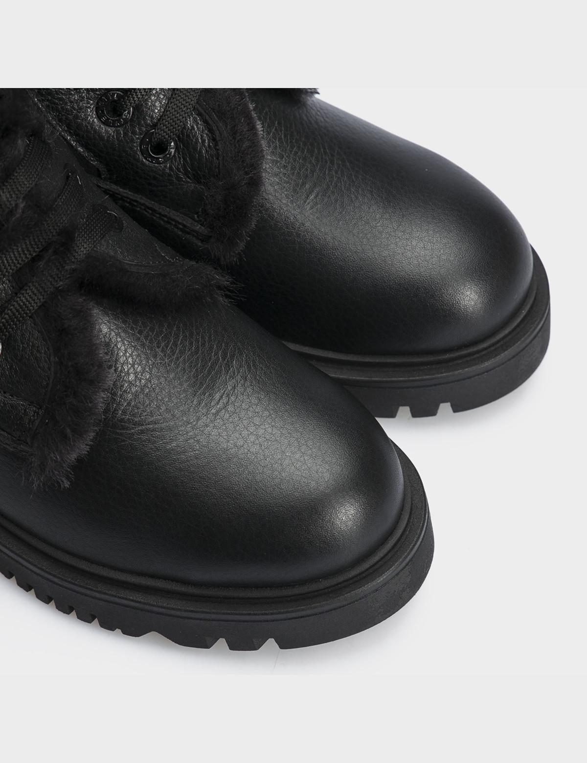 Ботинки черные,натуральная кожа. Шерсть5
