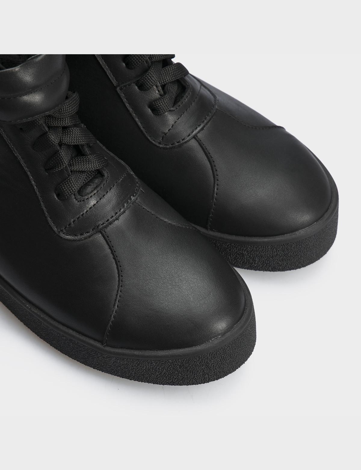Ботинки черные натуральная кожа. Шерсть4