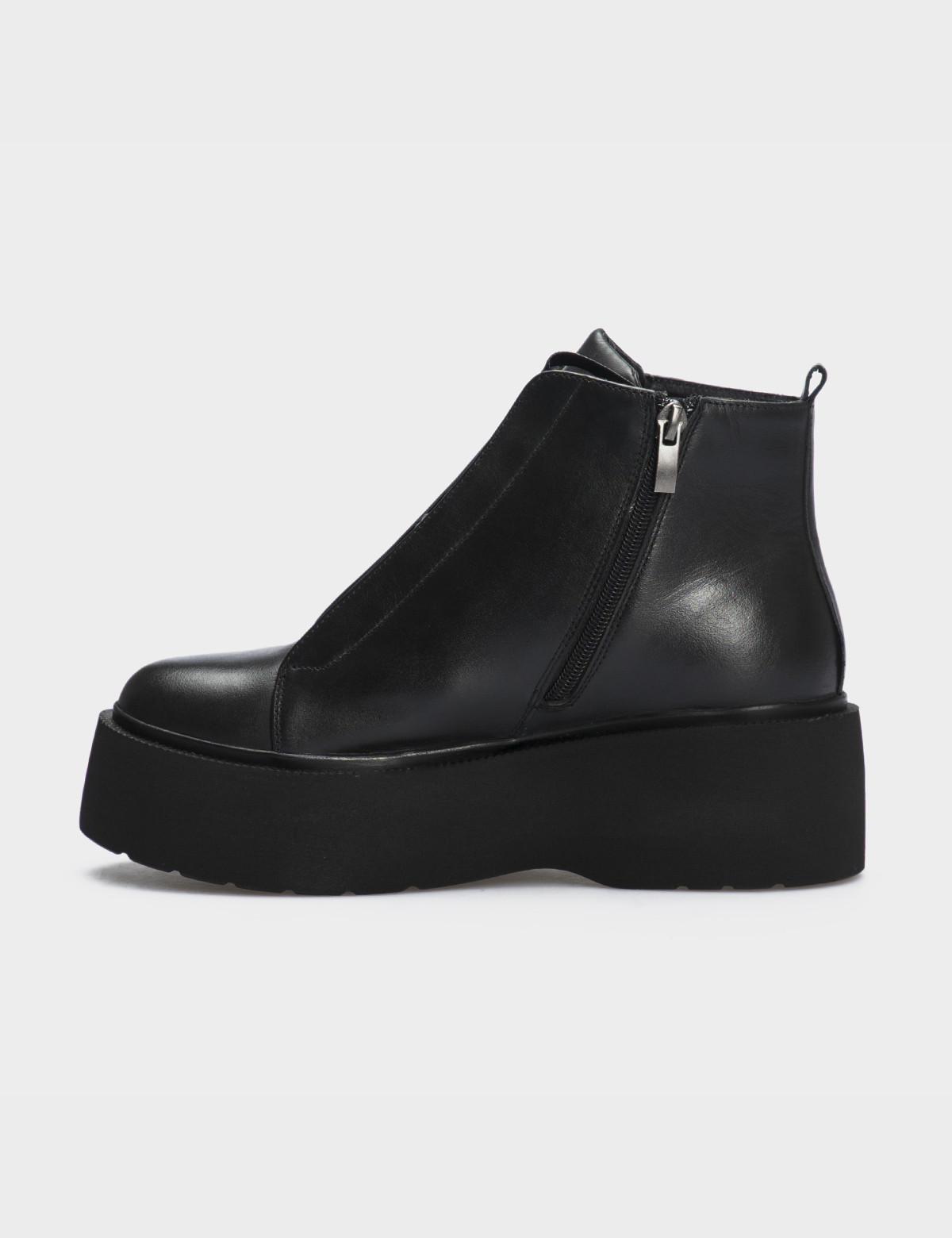 Ботинки черные натуральная кожа. Шерсть2
