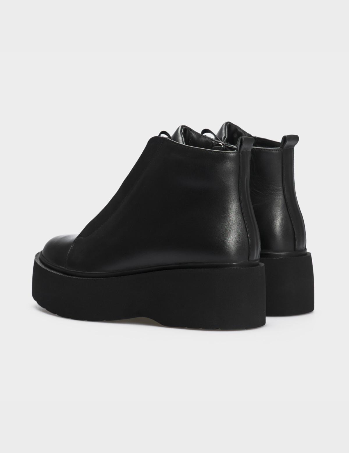Ботинки черные натуральная кожа. Байка3