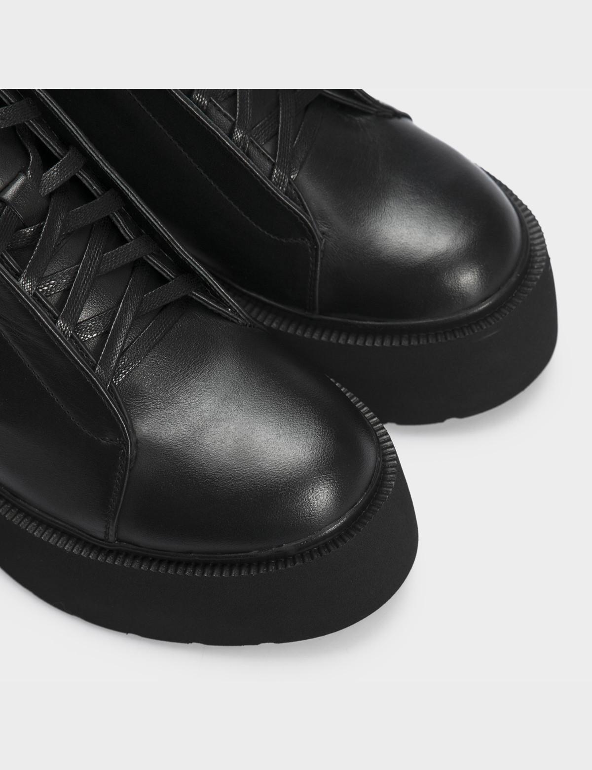 Ботинки черные натуральная кожа. Байка4