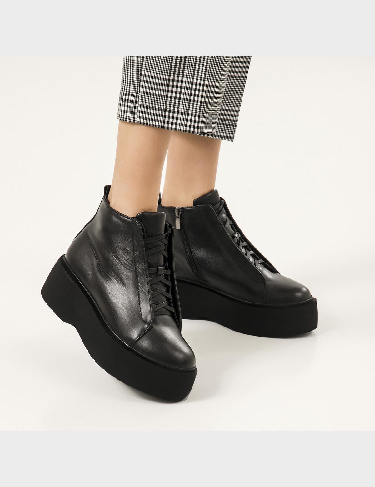 Ботинки черные натуральная кожа. Шерсть5