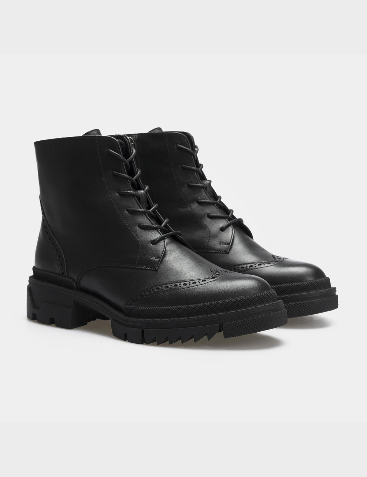 Ботинки черные, натуральная кожа. Шерсть1