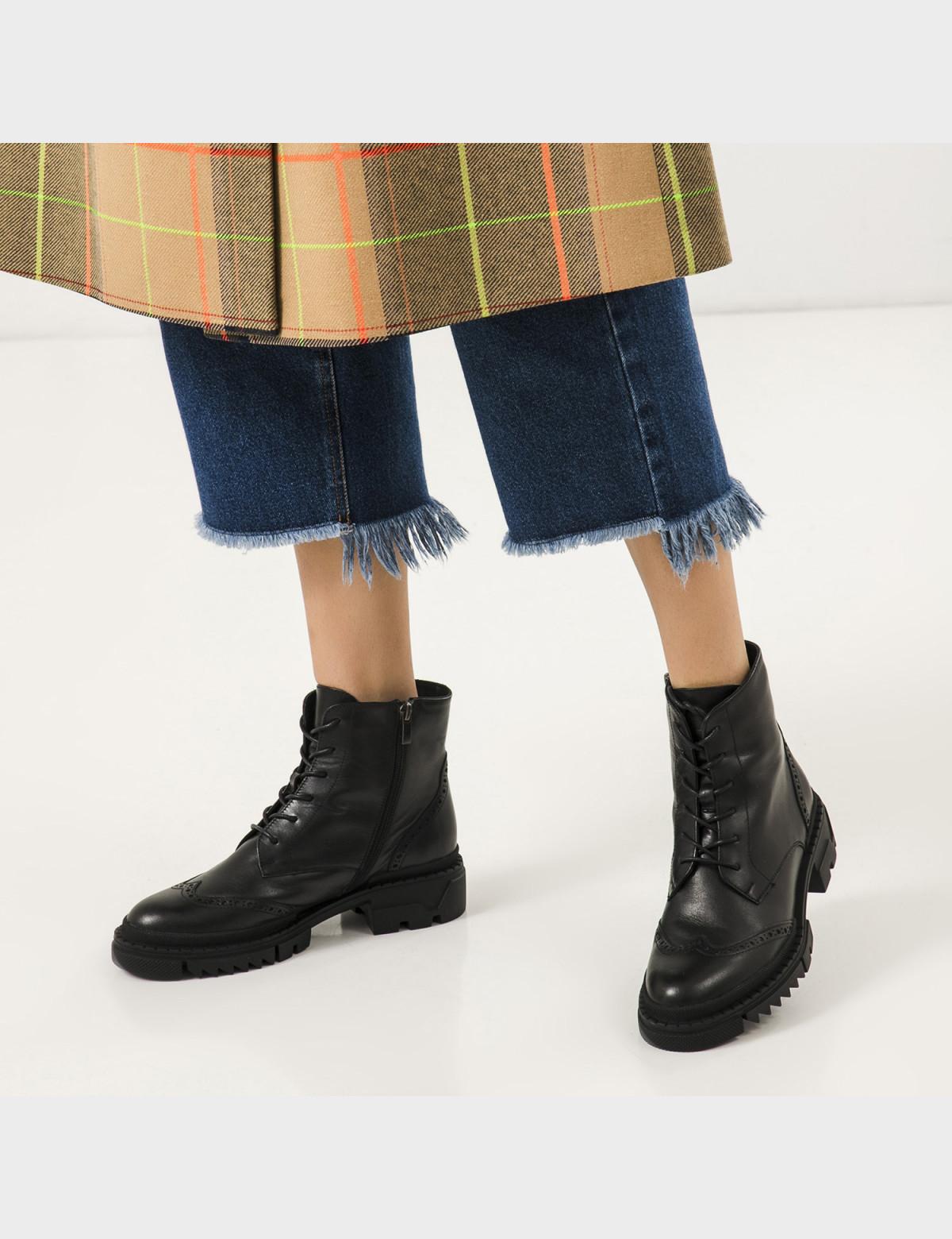 Ботинки черные, натуральная кожа. Шерсть3