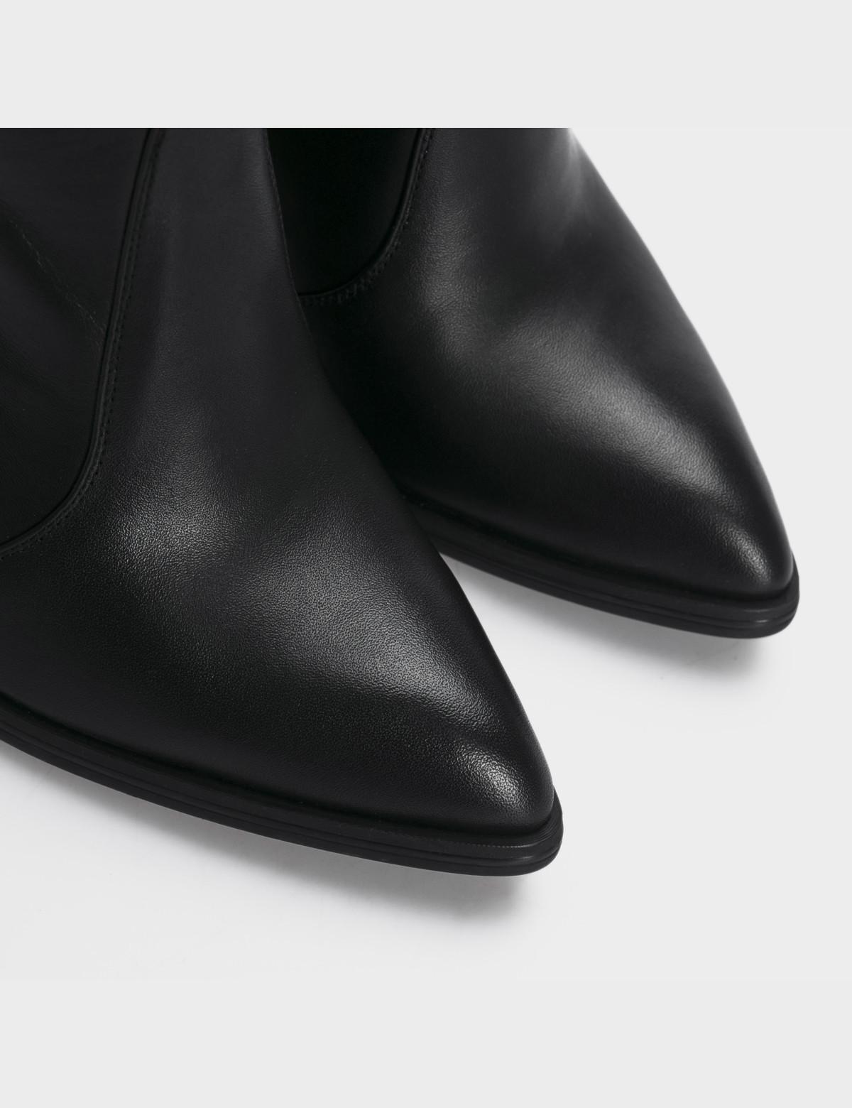 Сапоги черные, натуральная кожа. Еврозима4
