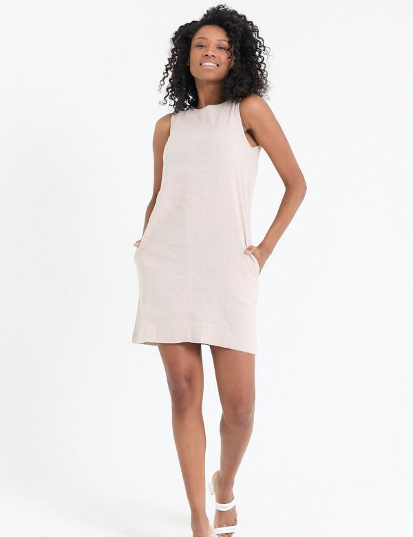 Сукня бежева