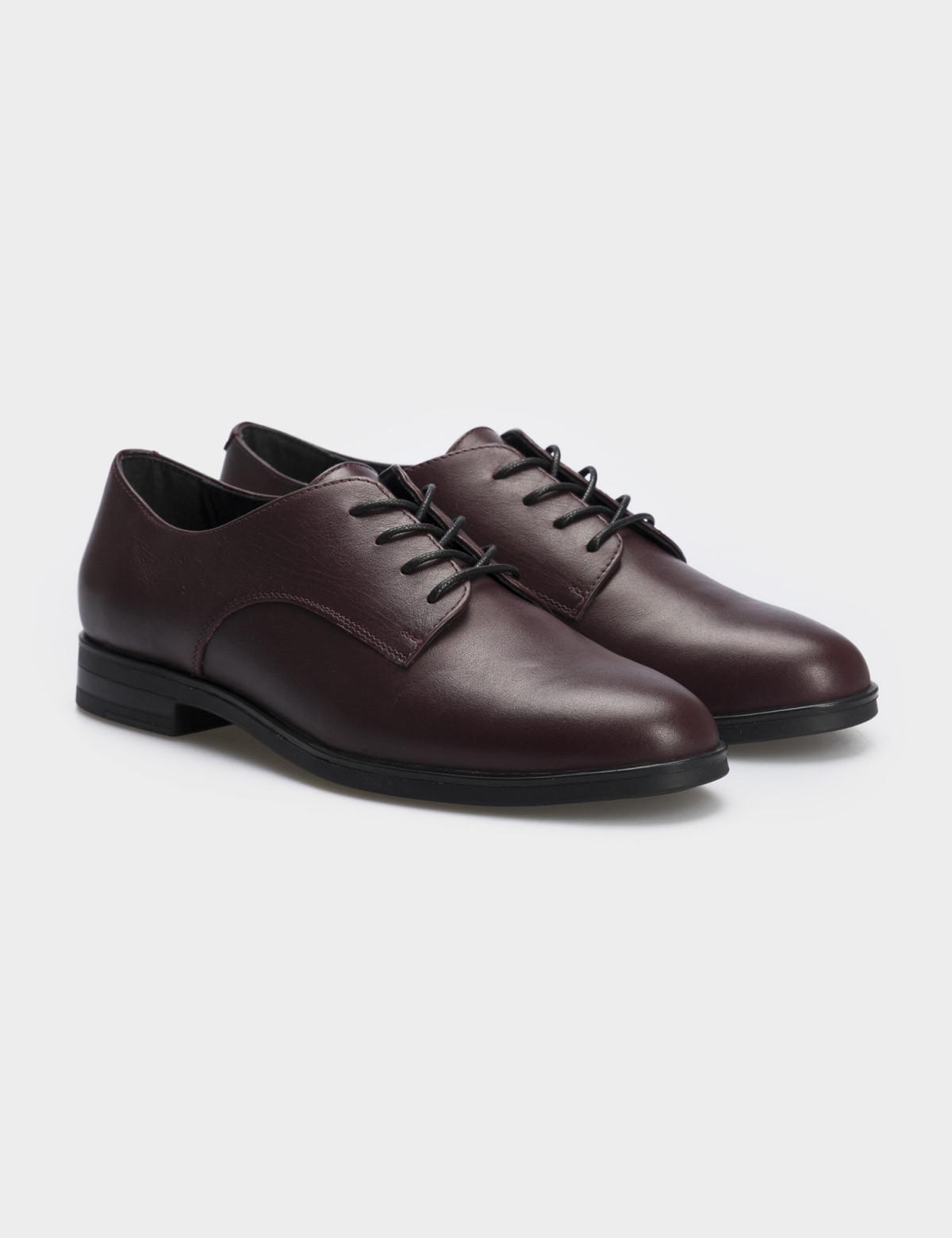 Туфли бордовые, натуральная кожа1