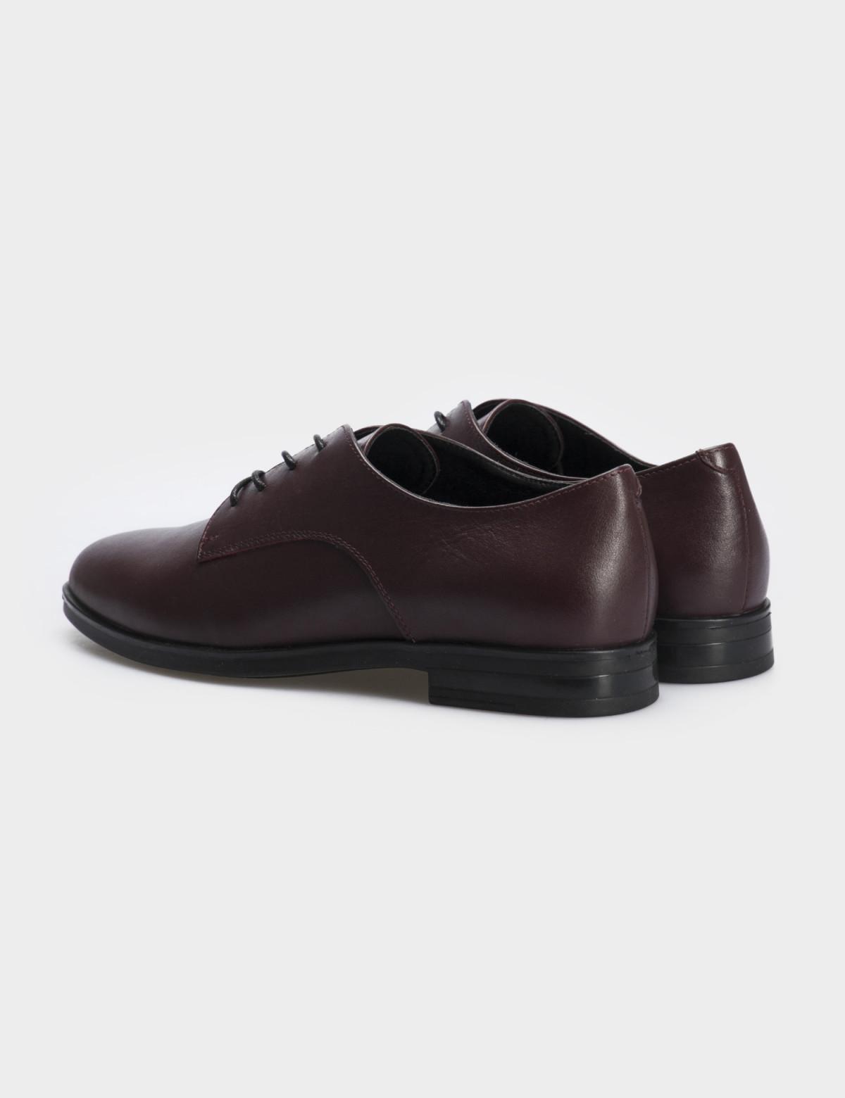 Туфли бордовые, натуральная кожа2