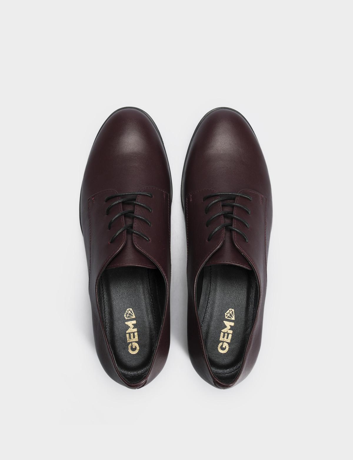 Туфлі бордові, натуральна шкіра 3