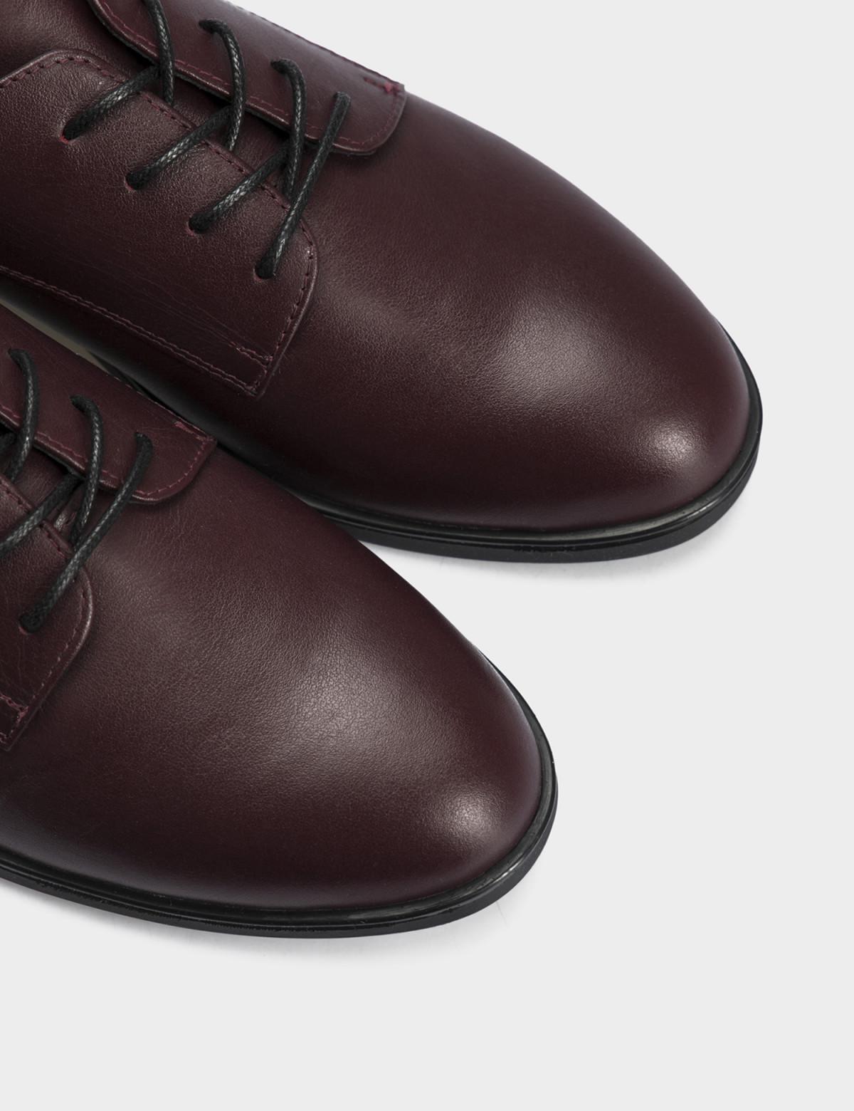 Туфли бордовые, натуральная кожа4