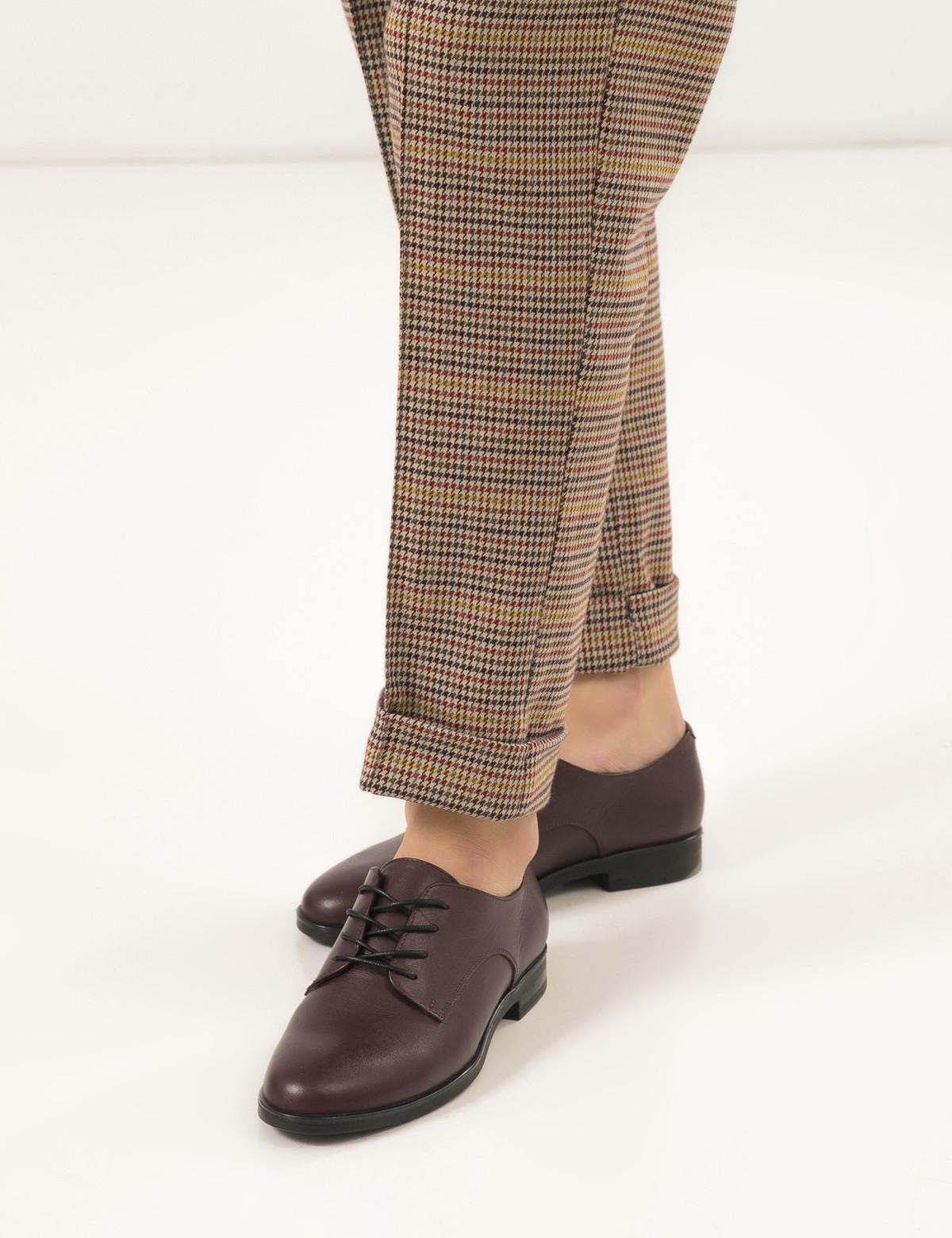 Туфлі бордові, натуральна шкіра 5