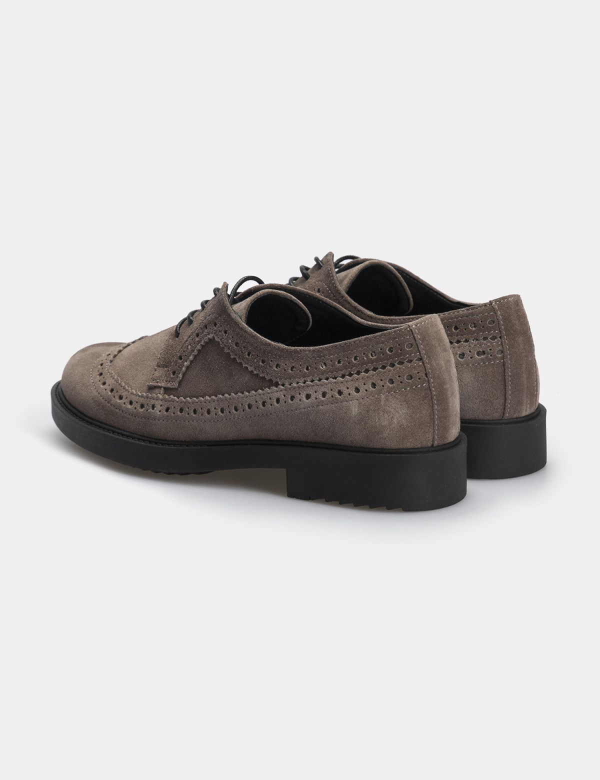 Туфлі темно-бежеві, натуральна замша2