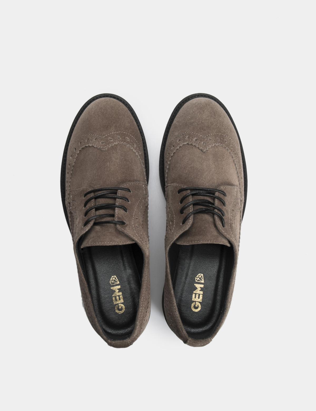 Туфлі темно-бежеві, натуральна замша3