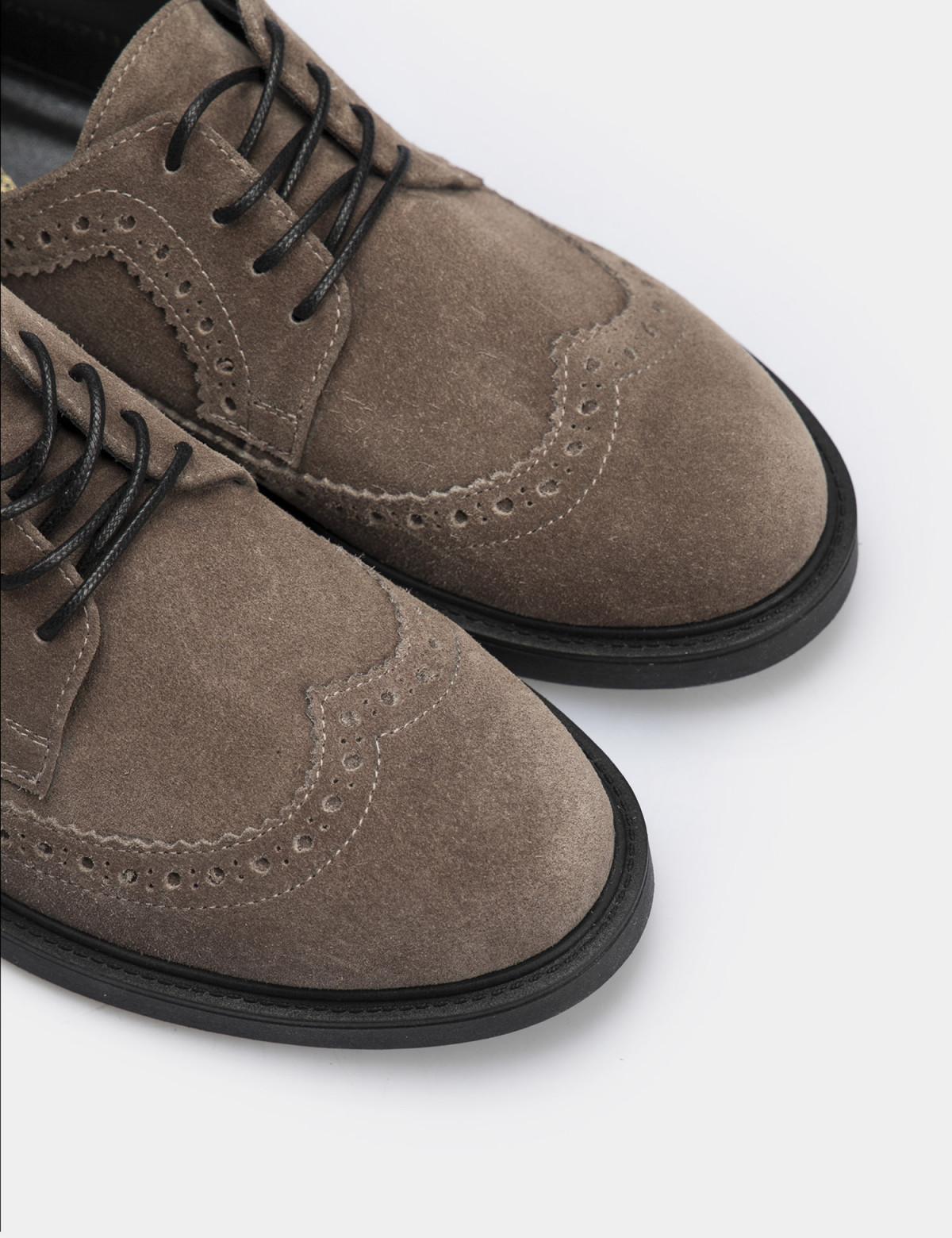 Туфлі темно-бежеві, натуральна замша4