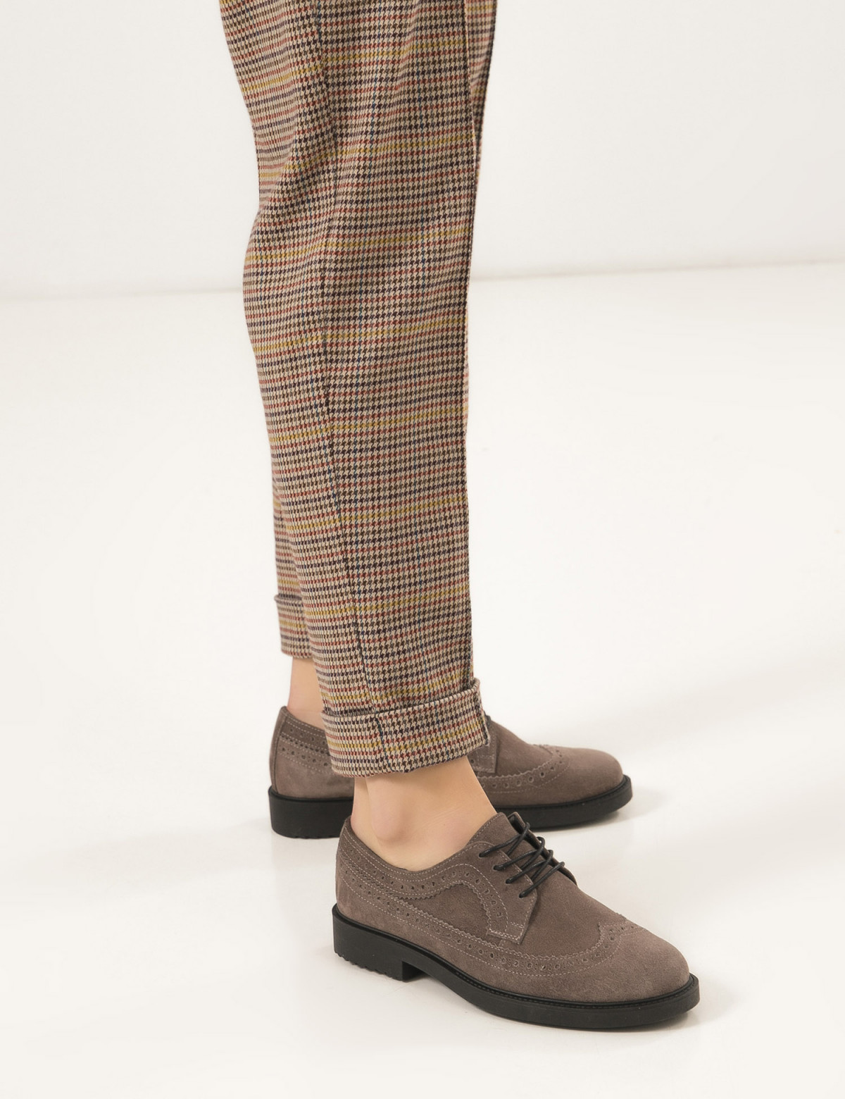 Туфлі темно-бежеві, натуральна замша5