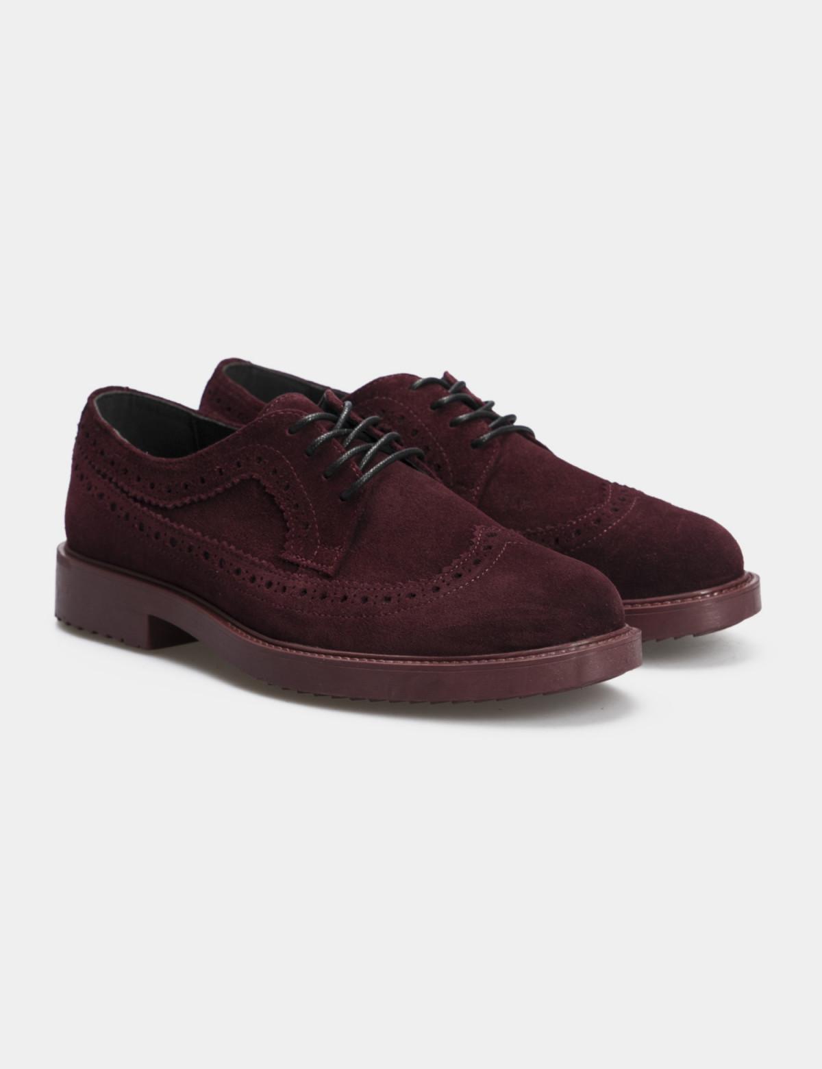 Туфли бордовые, натуральная замша1