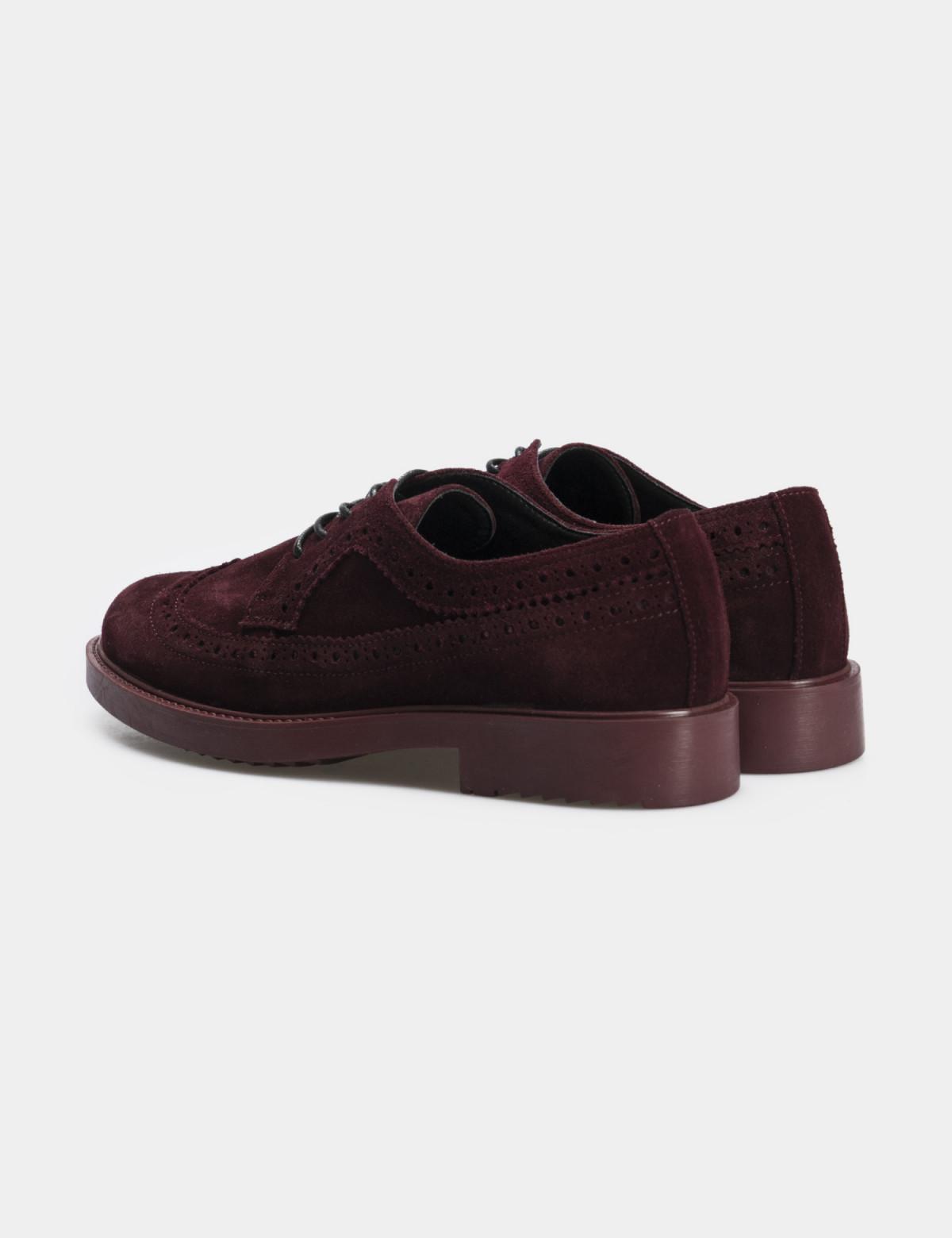 Туфли бордовые, натуральная замша2