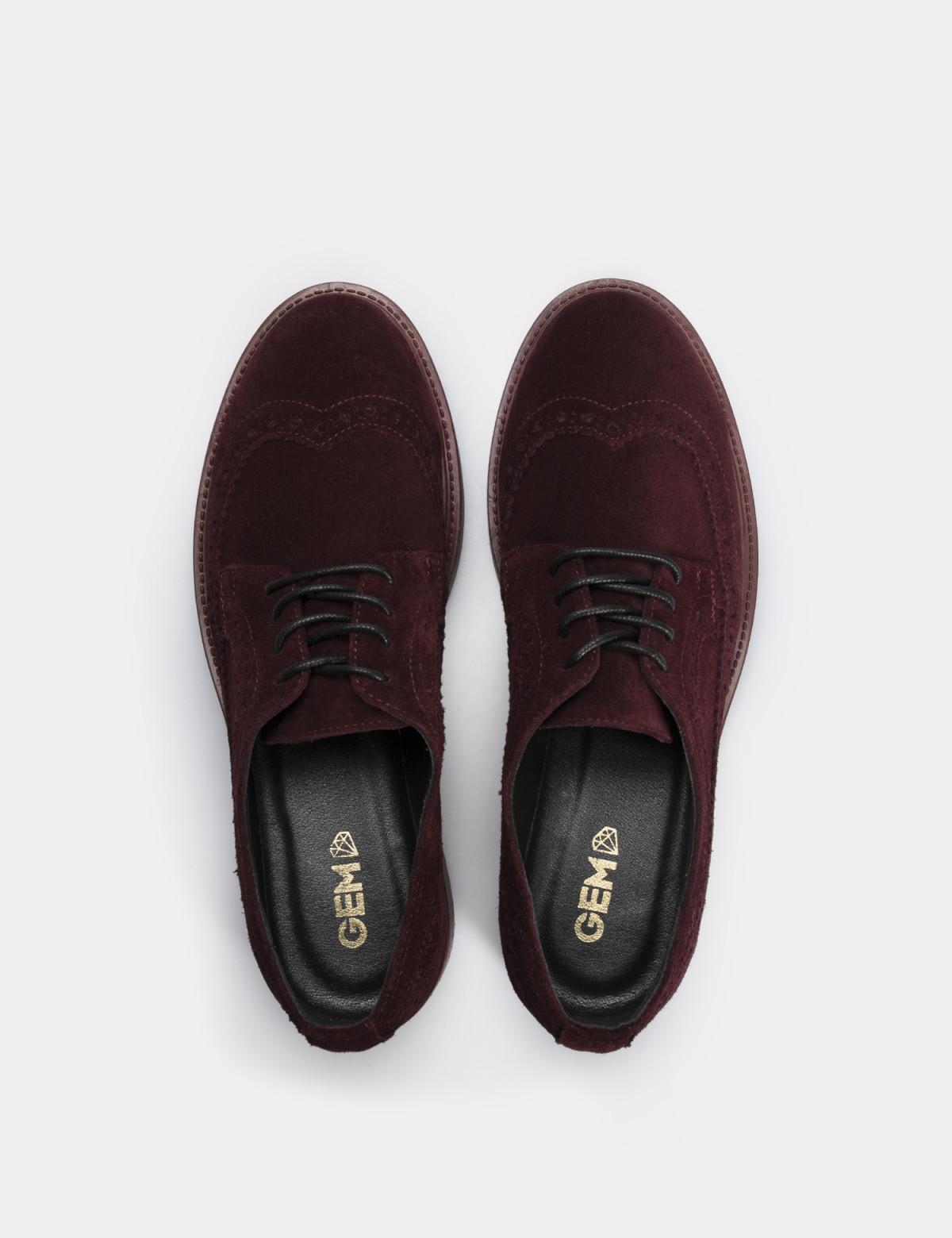 Туфли бордовые, натуральная замша3