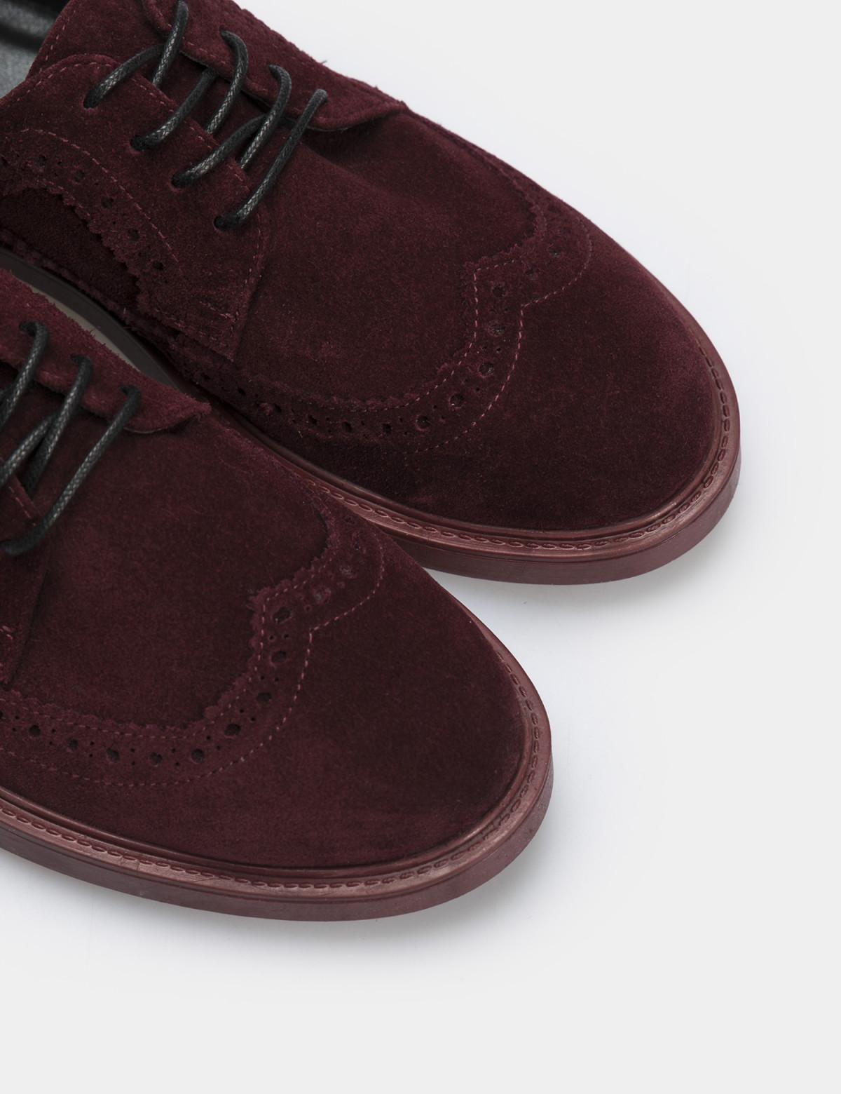 Туфли бордовые, натуральная замша4