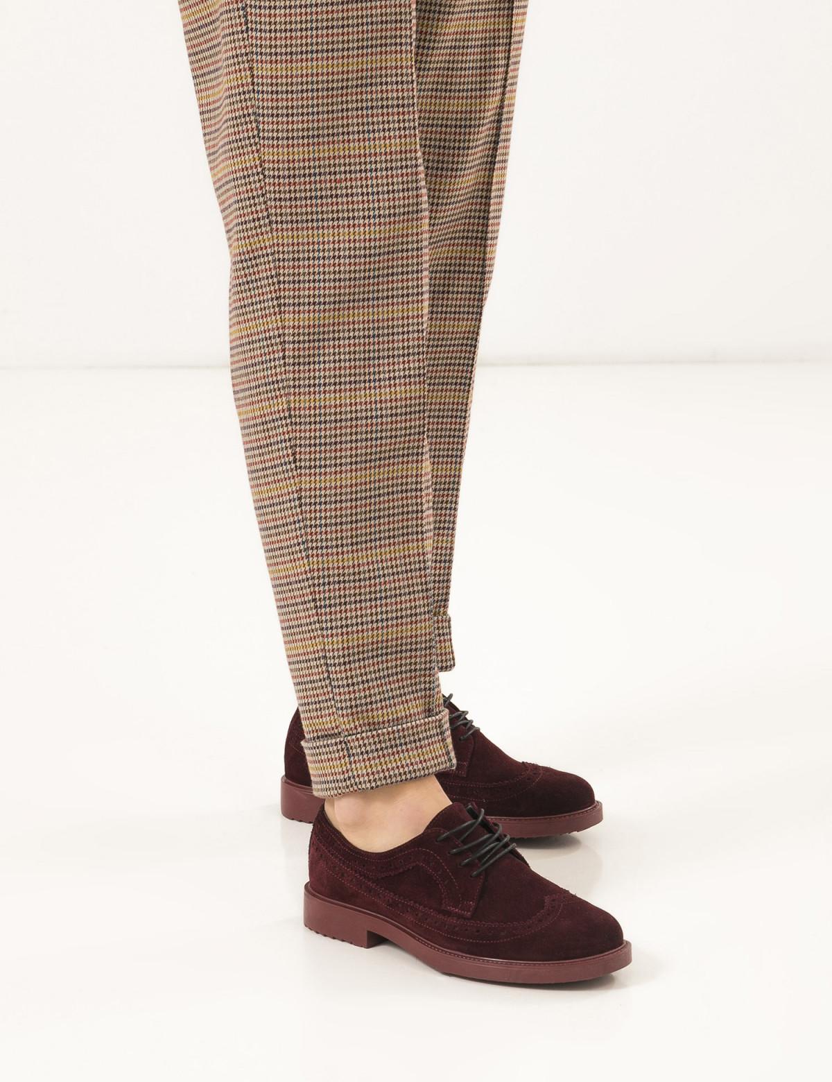 Туфли бордовые, натуральная замша5