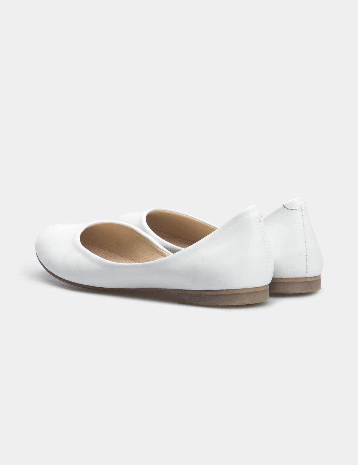Балетки белые, натуральная кожа2