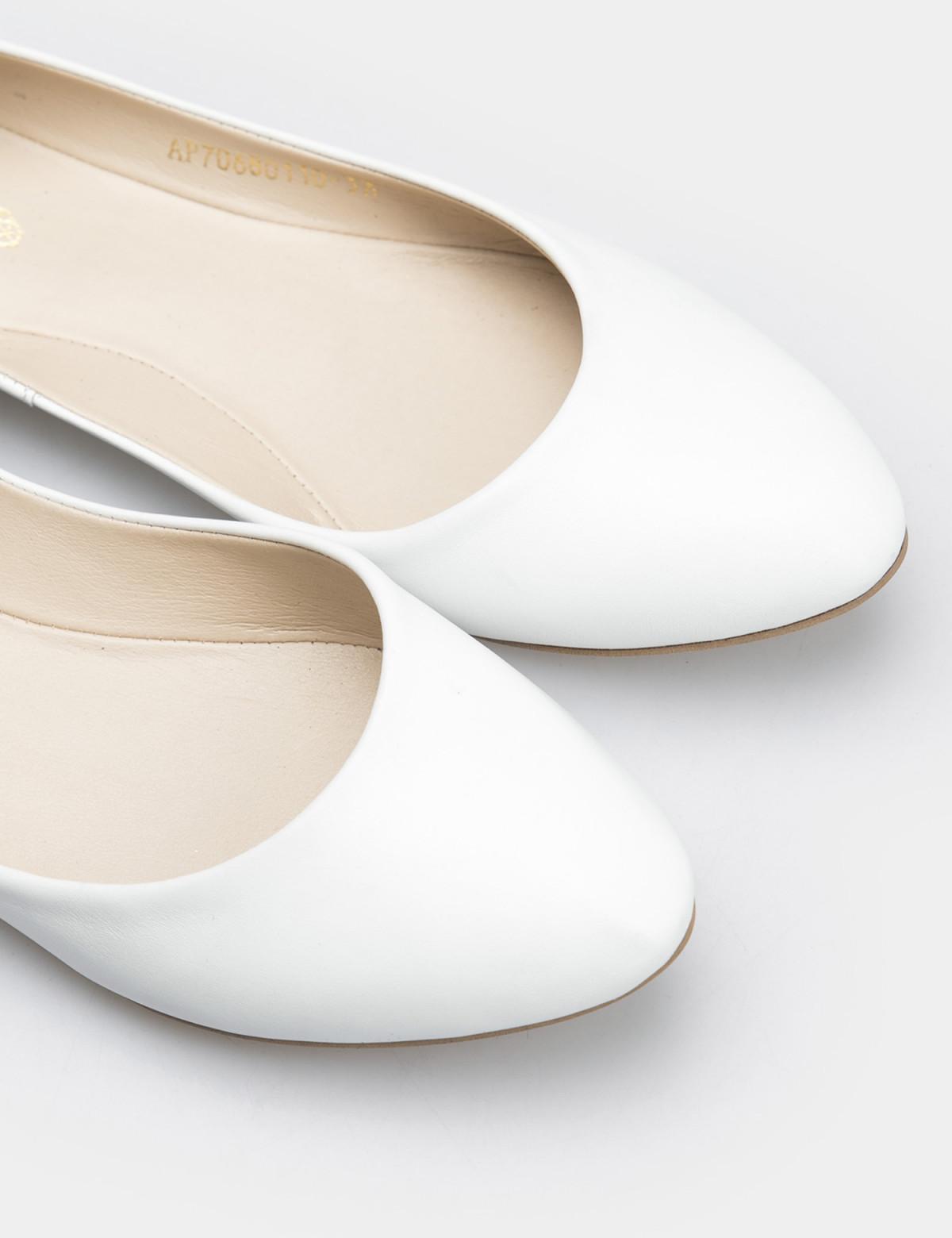 Балетки белые, натуральная кожа4