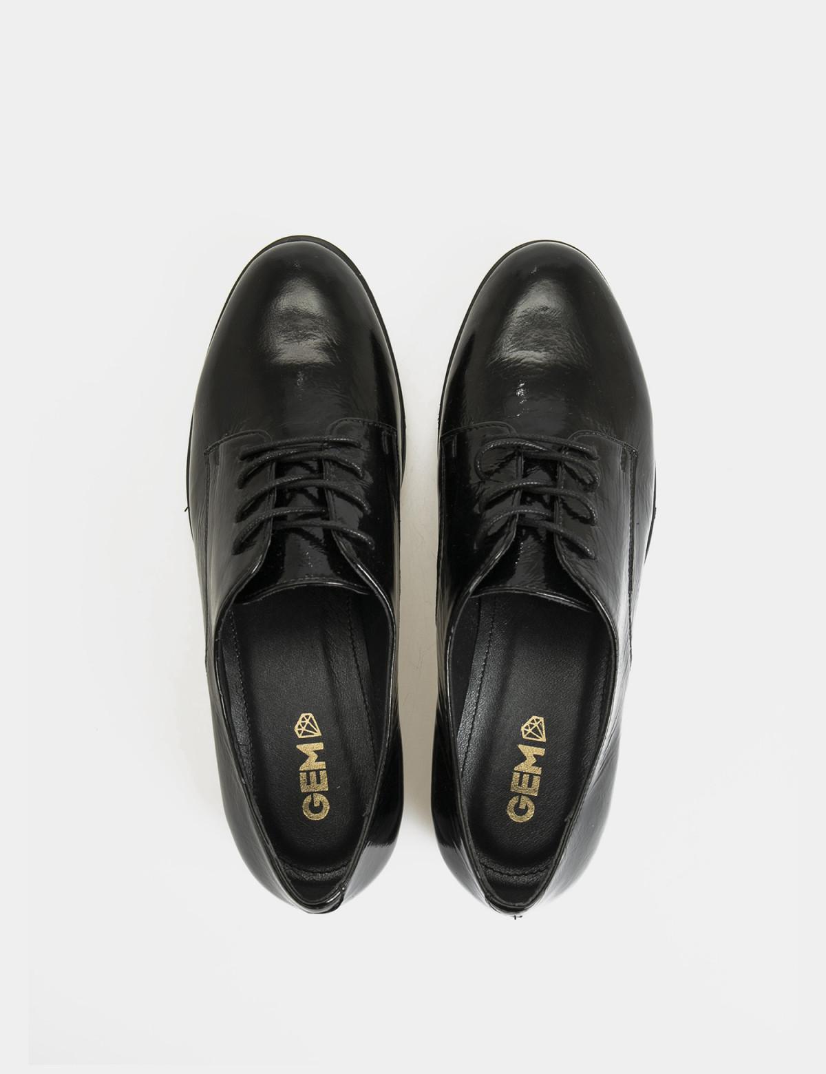 Туфли черные лакированные, натуральная кожа3