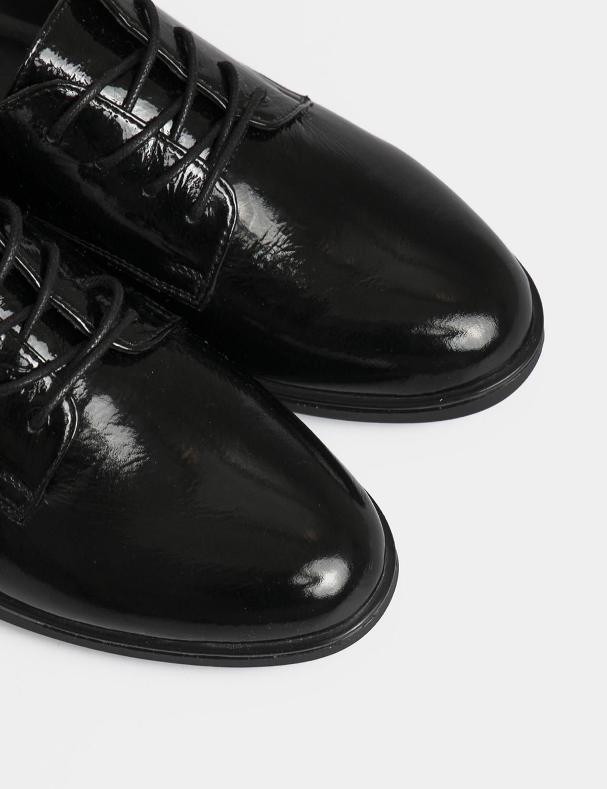 Туфли черные лакированные, натуральная кожа4