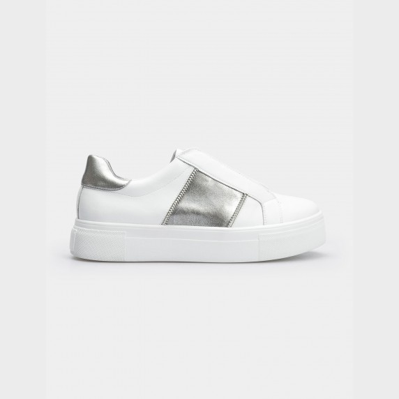 Кроссовки белые, натуральная кожа