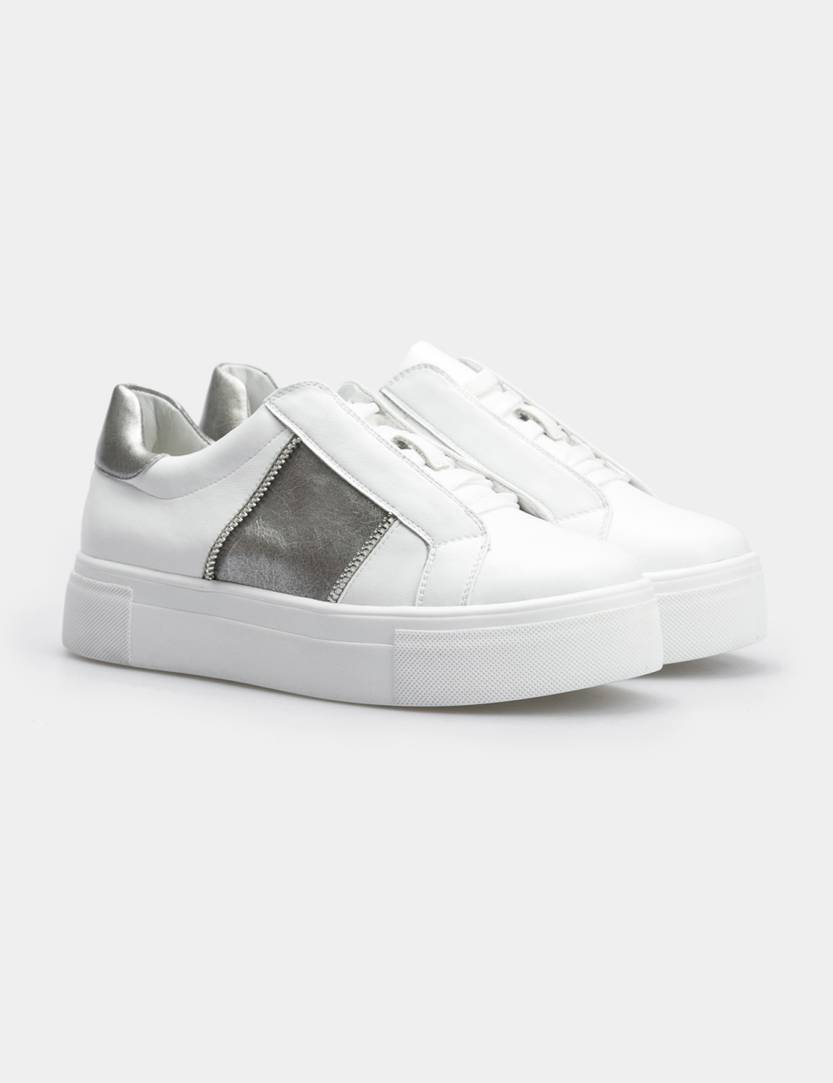 Кроссовки белые, натуральная кожа1