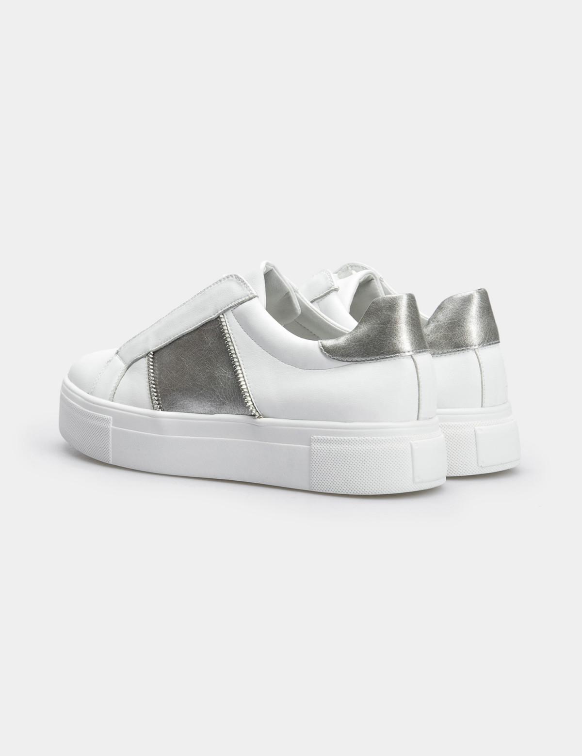Кроссовки белые, натуральная кожа2