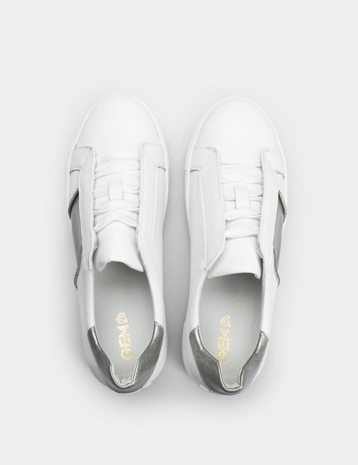 Кросівки білі, натуральна шкіра3