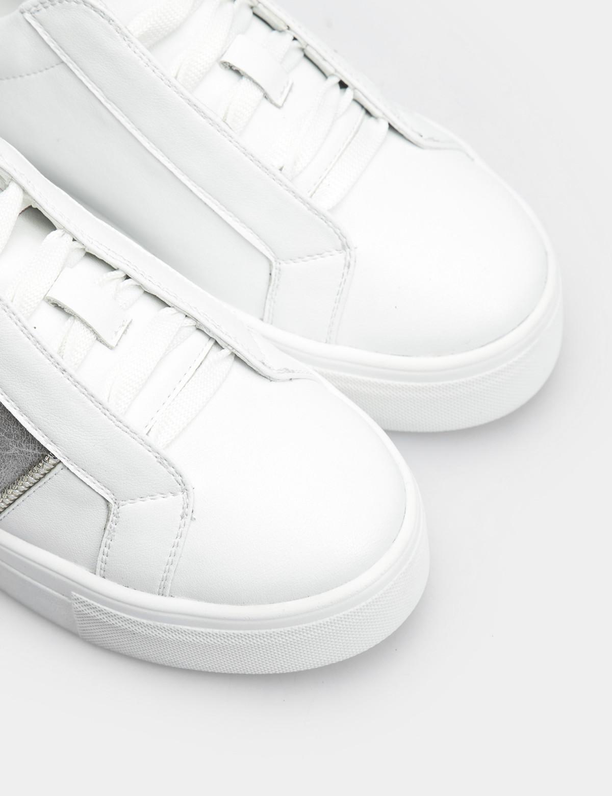 Кроссовки белые, натуральная кожа4